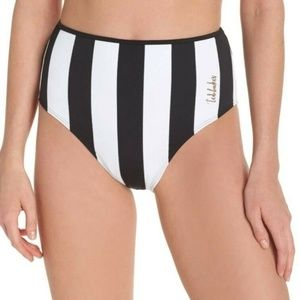 Ted Baker Striped Vievu High Waist Swim Bottoms